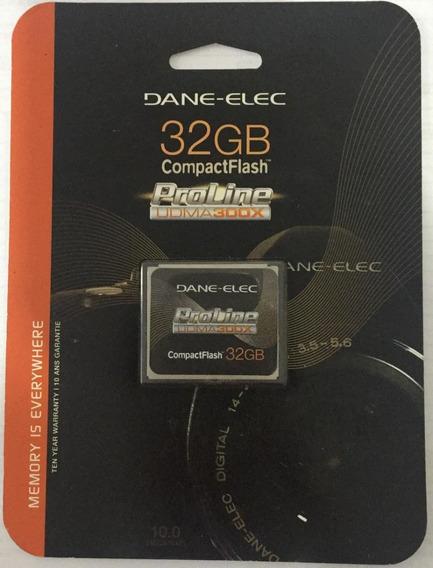 Cartão Compacto Flash 32gb Dane-elec Proline 300x