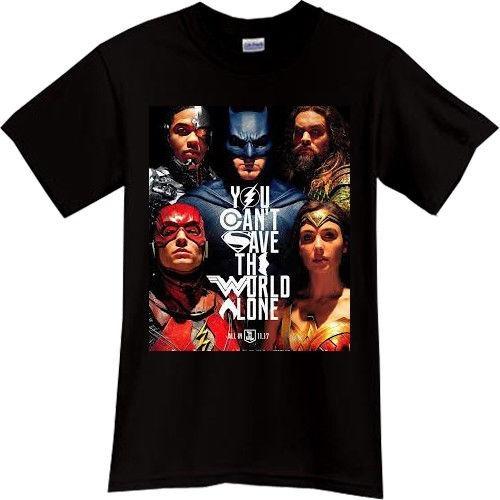 Liga De La Justicia Playera Xs Negra Batman Dc Comics.