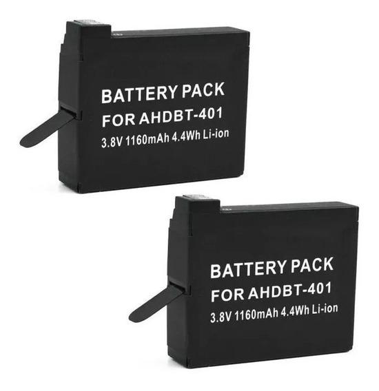 Duas Baterias Gopro Ahdbt-401 Para Hero4 Hero 4 Sao Paulo