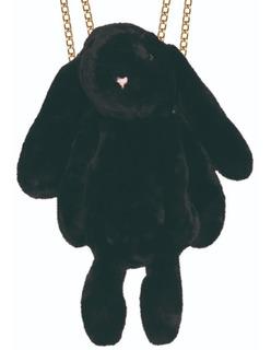 Mochila Backpack De Conejo De Peluche Negro
