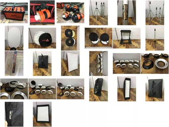 Kit Studio Fotográfico Profissional Completo - Pronta Entreg