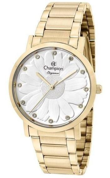 Relógio Champion Feminino Cn25878h Metal Dourado