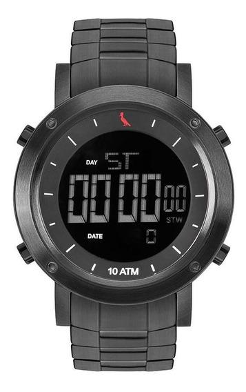 Relógio Reserva Masculino Rebjk014aa/4c Digital Black