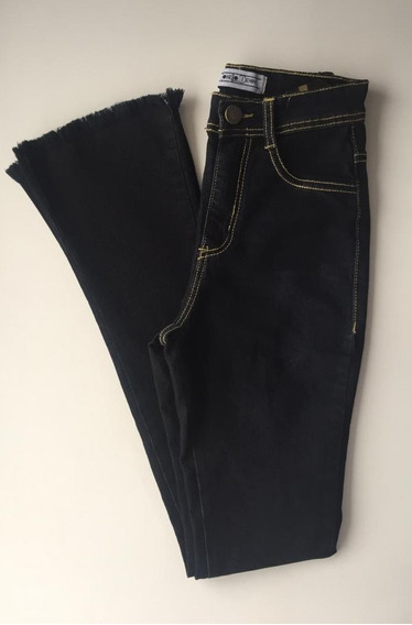 Calça Jeans Feminina Flare Preta Tamanho 36