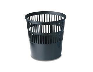 Cesto Papelero 12 Litros Plástico Negro Pizzini 119ng