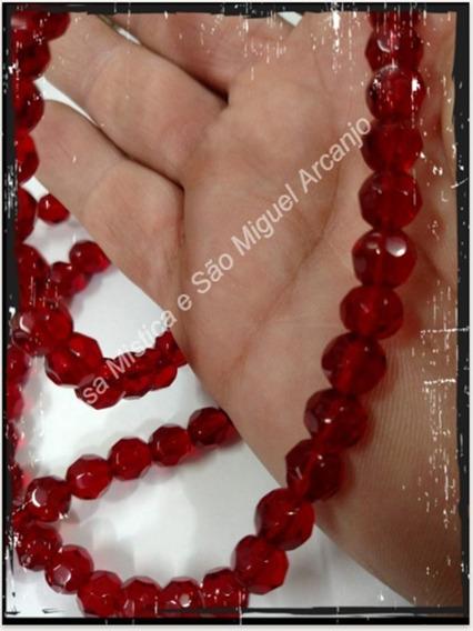 Guia De Cristal 147 Pedras Vermelha 0,8mm