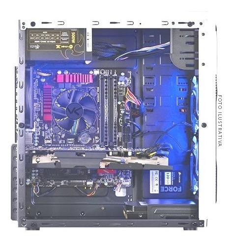 Pc Gamer Led Azul Gtx 1050 + Fx 8300 + 12 Gb De Ram