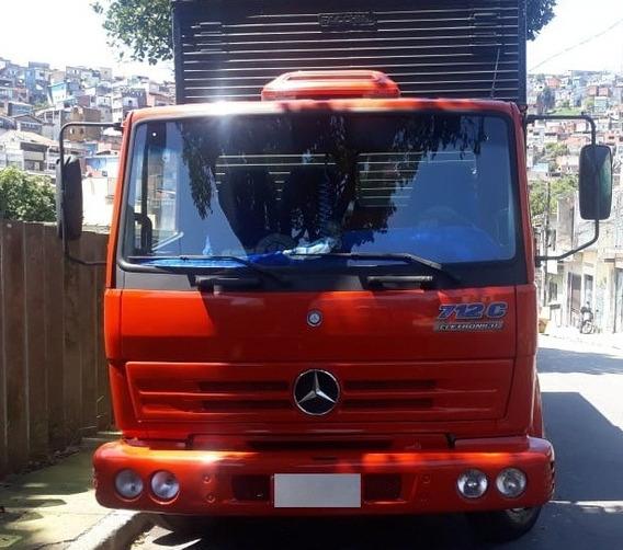Caminhão Mb 712 C - Vermelho - Ano 99