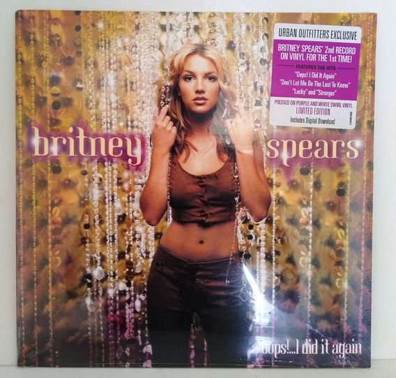 Lp Britney Spears Oops!...i Did It Again Pronta Entreg Leia