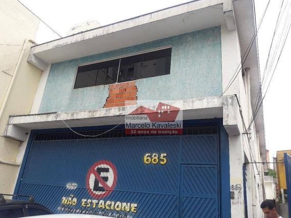 Galpão Comercial Para Venda E Locação, Sacomã, São Paulo. - Ga0140