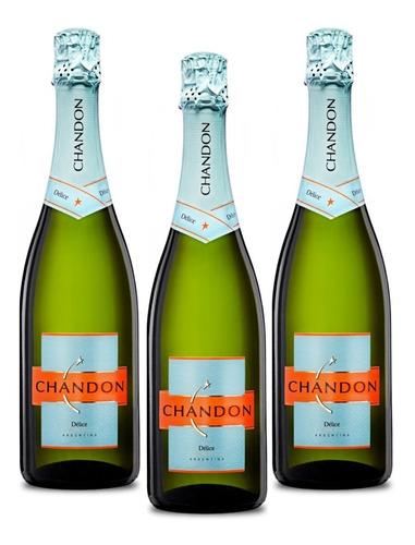 Champagne Chandon Delice 750 Ml X3 - Pérez Tienda -