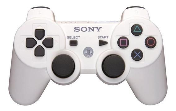 Controle joystick Sony Dualshock 3 white