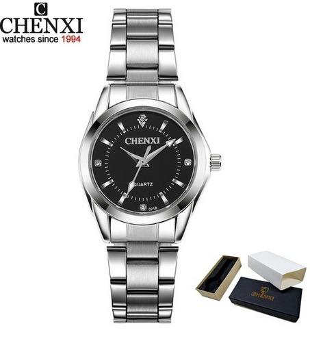 Relógio Delicado Azul, Em Inox, Chenxi Promoção+frete Gratis
