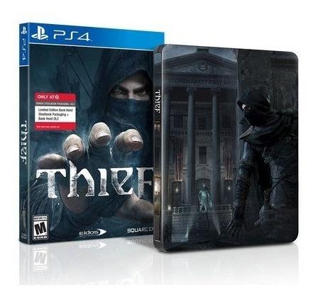 Raro Jogo Thief Ps4 Playstation 4 Steelbook Aceito Trocas