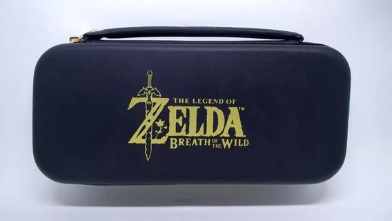Case Zelda Travel Para Nintendo Switch + 2 Grips Analógicos