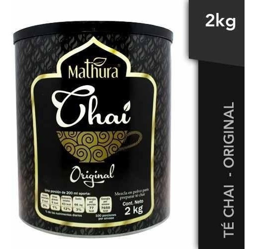 Te Chai Sabor Original 1 Lata De 2kg Marca Mathura