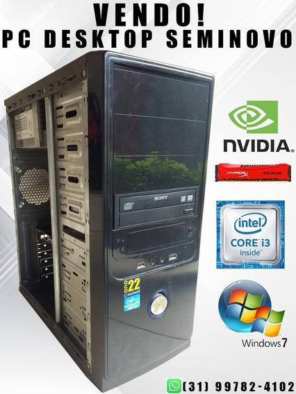 Computador Pc Desktop Intel Core I3 8gb Hd 1tb Windows 7