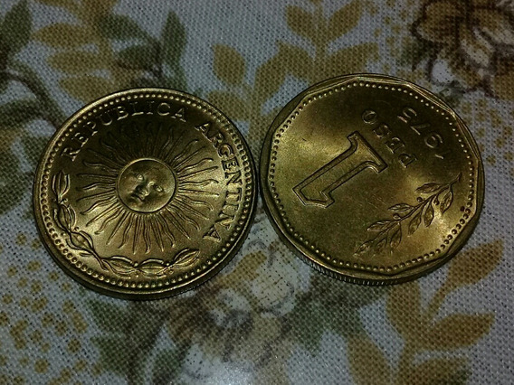 Monedas Un Peso Argentino 1975 1976 Lote 220 Unidades