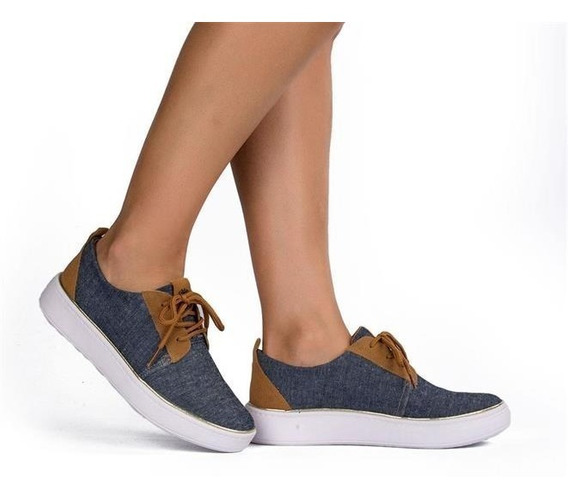 Tênis Dakota Casual Feminino Flatform Jeans - Lojas Pires