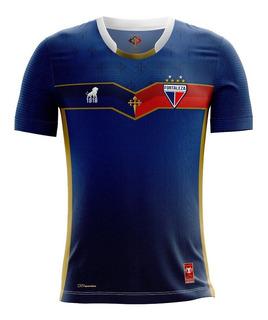 Camisa Fortaleza Oficial Goleiro 2018 Centenário Azul/vermel