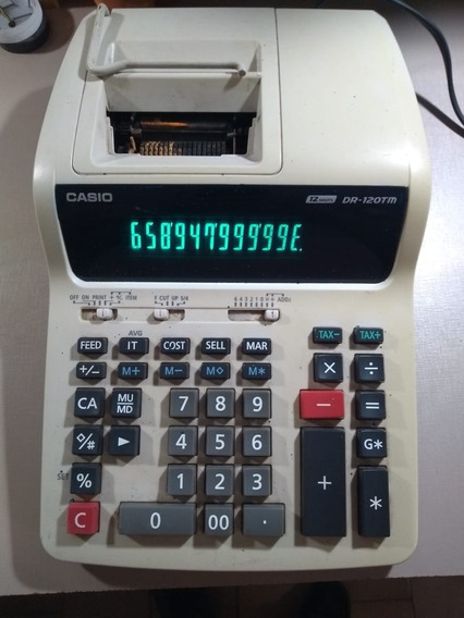 Calculadora Cassio 12 Digits Dr 120 Tm (sucata)