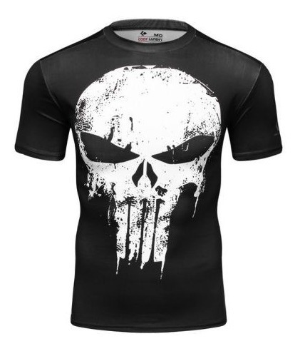 Playera Deportiva Punisher Marvel Avengers Licra Superheroe
