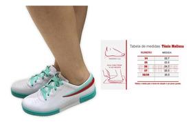 Tenis Estilo Melissa Sneaker Casual Promoção Foto Original