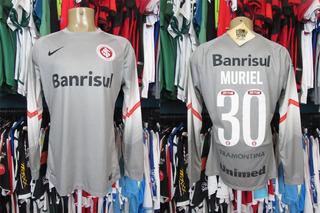Internacional 2014 Camisa De Goleiro Tamanho G # 30 Muriel.