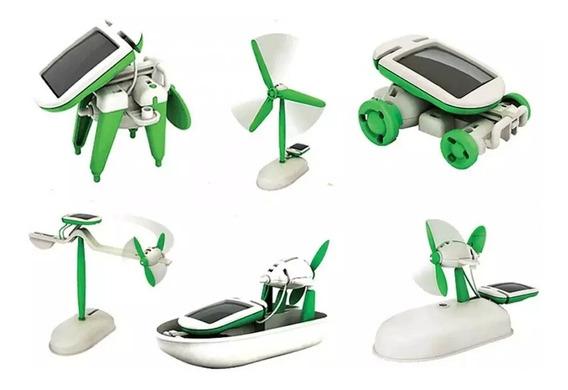 Robô Solar 6 Em 1 Kit Robótica Educacional Fácil De Montar
