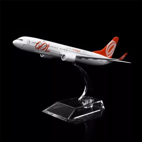 1:400 16cm Brasil Gol Airlines Boeing 737, Miniatura