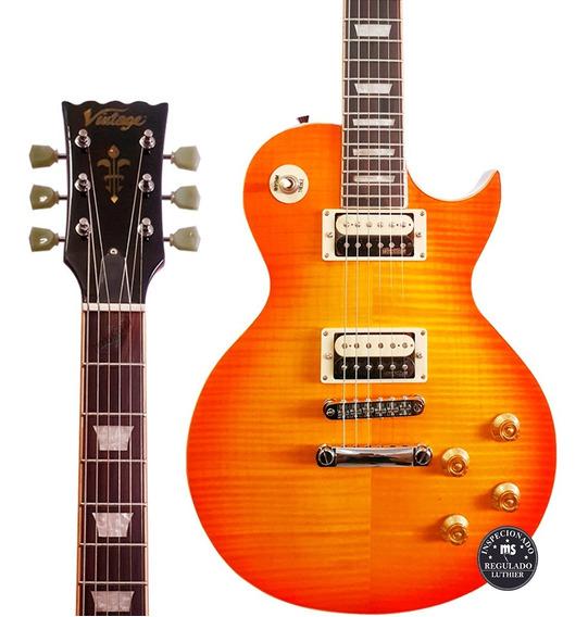 Guitarra Les Paul Vintage V100 Thb Honey Burst Promoção!