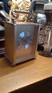 Reloj De Mesa Chimenea Antiguo De Bronce Alemán