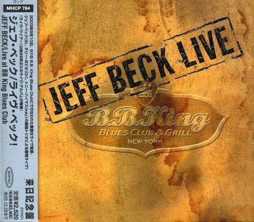 Cd : Jeff Beck - Live At Bb King Blues Club (japan - Import)