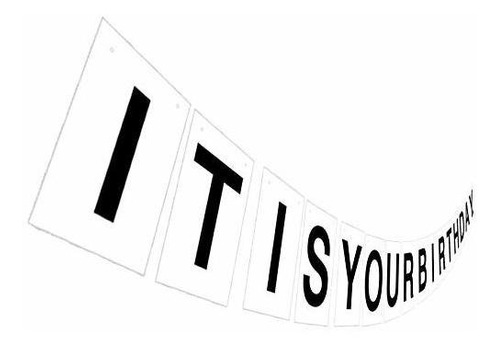 Imagen 1 de 6 de Es Su Pancarta De Cumpleaños, Letrero De Cumpleaños De Texto