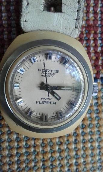 Relógio Fortis Automático Mini Flipper . Ano 65. Raríssimo