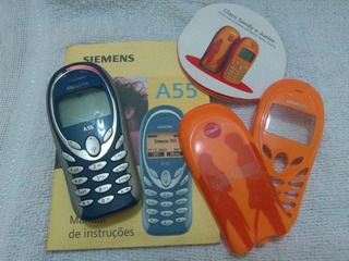 Celular Siemens A55 Com Capa Extra Sandy E Junior