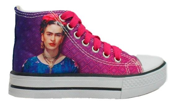 Tenis Botas Frida Kahlo Vive Como Piensas Mujer Panam Pm002