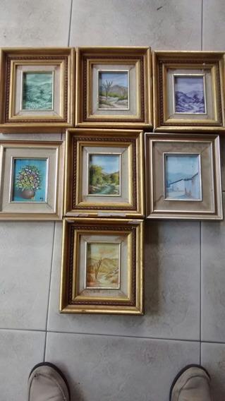Vendo Siete Pinturas Miniaturas En Oleo