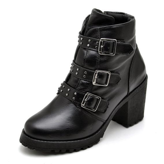 Bota Feminina Coturno Sapato Novo 18100 Promoçao