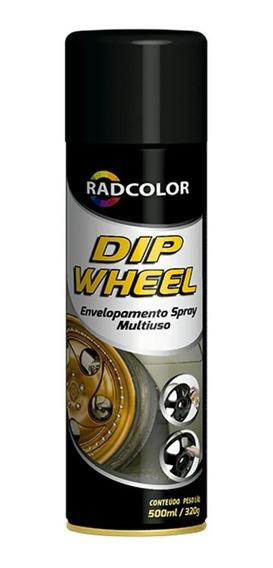 Tinta Dip Wheel Preto Fosco - Envelopamento Líquido