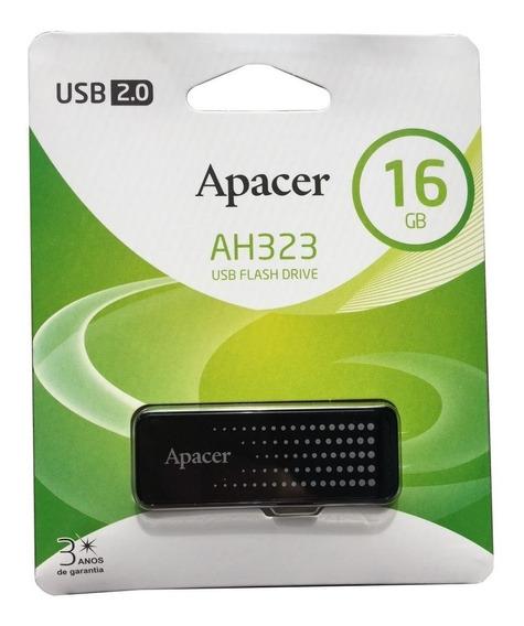 Pen Drive 16gb Apacer - Preto - Ah323 - 2.0