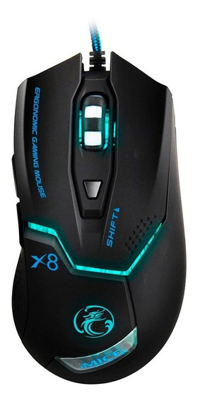 Mouse Gamer X8 Iluminação Rgb Com Fio 3200dpi Ps4 Pc Xbox Tv