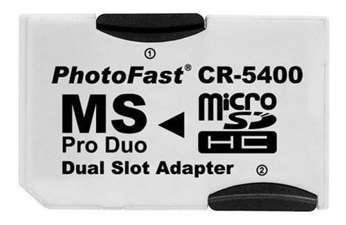 Imagem 1 de 3 de Adaptador Cr-5400 Micro Sd Photofast Memory Stick Ms Pro Duo