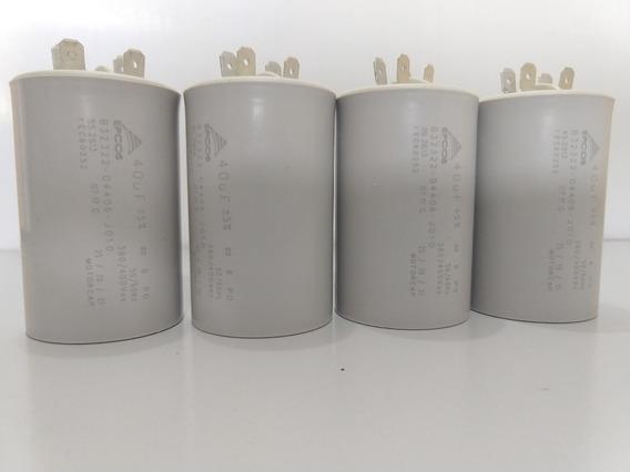4-capacitor Epcos De Partida 40uf 400v -b32322-d4406-j010
