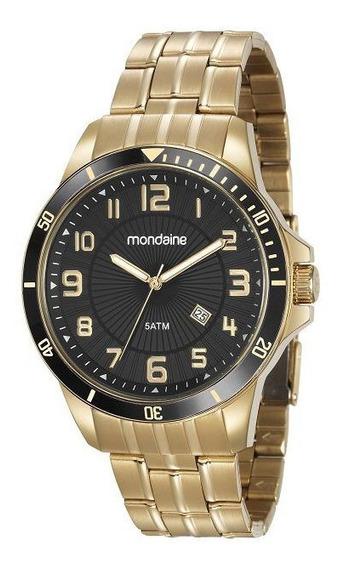 Relógio Masculino Mondaine Dourado Aço 78758gpmvda2