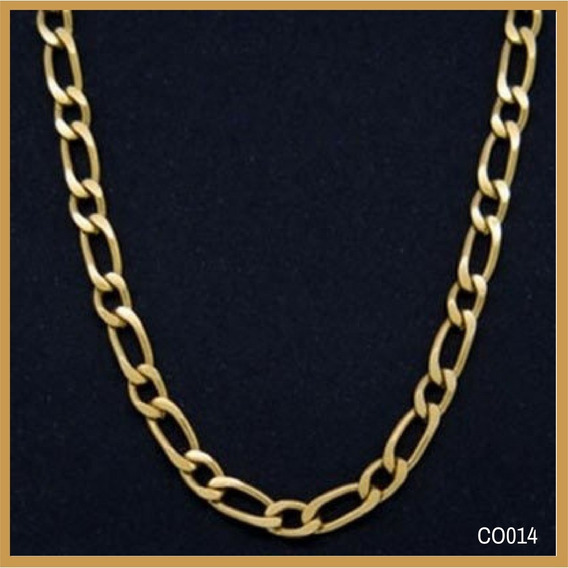 Corrente Ouro 18k Grumet 1 Por 1 Grossa Cod.co014 50cm