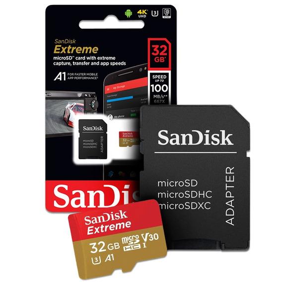 Cartão De Memoria 32gb Micro Sd Adapt Cl10 100mb/s Sandisk