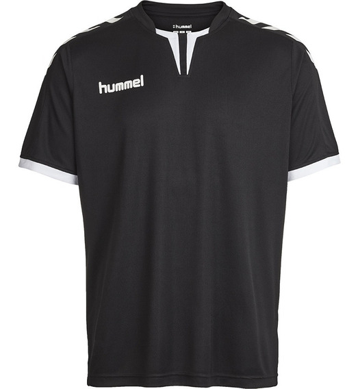 Camiseta Masculina Clássica Com Detalhes Na Gola Preta
