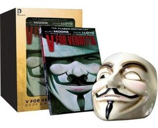 Hq V For Vendetta Deluxe Collector Set Mask Inglês Mascara