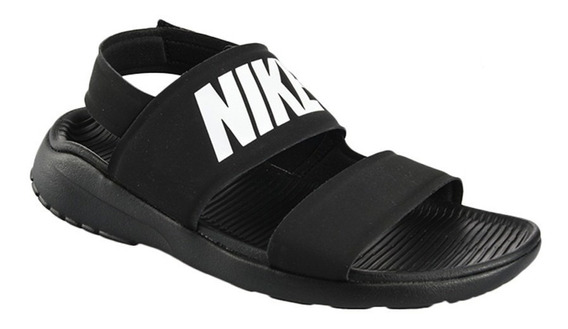 Sandalia Nike Tanjun Black White - Mujer